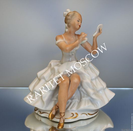 Винтажные предметы интерьера. Ярмарка Мастеров - ручная работа. Купить Девушка танцовщица балерина Wallendorf 1. Handmade. Разноцветный, раритет