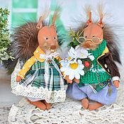 Куклы и игрушки handmade. Livemaster - original item Couple of squirrels.. Handmade.