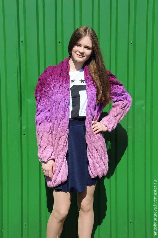 Пиджаки, жакеты ручной работы. Ярмарка Мастеров - ручная работа. Купить кардиган женский. Handmade. Комбинированный, градиент