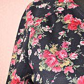 Одежда ручной работы. Ярмарка Мастеров - ручная работа Платье из джерси с розочками. Handmade.