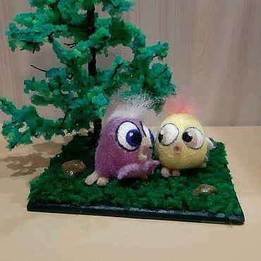 Куклы и игрушки ручной работы. Ярмарка Мастеров - ручная работа Цыплята в лесу. Handmade.