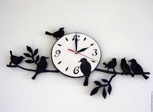 Часы для дома ручной работы. Ярмарка Мастеров - ручная работа. Купить Часы с птичками. Handmade. Часы подарочные, часы для дома