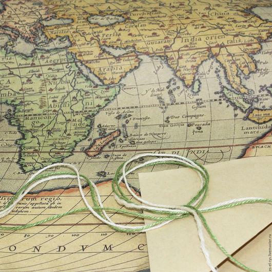 Актуальная бумага для упаковки ` Карта` с матовым эффектом