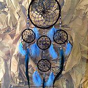 Для дома и интерьера handmade. Livemaster - original item Dreamcatcher - Hildein Blue (80 cm). Handmade.