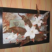 Картины и панно ручной работы. Ярмарка Мастеров - ручная работа Картина из натуральной кожи.. Handmade.