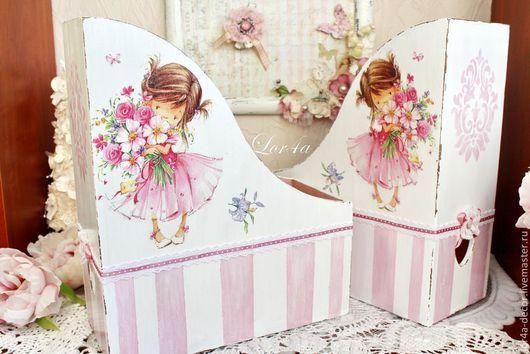 """Журнальницы ручной работы. Ярмарка Мастеров - ручная работа. Купить Журнальница """"Нежность шебби"""". Handmade. Бледно-розовый, розы"""
