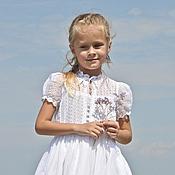 Работы для детей, ручной работы. Ярмарка Мастеров - ручная работа Батистовое платье для девочки. Handmade.