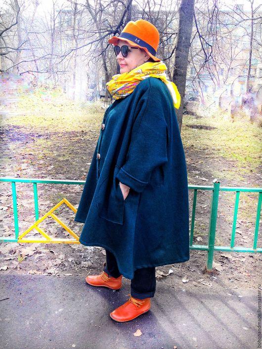 Верхняя одежда ручной работы. Ярмарка Мастеров - ручная работа. Купить Пальто Весенний Оркестр Бохо. Handmade. Тёмно-зелёный