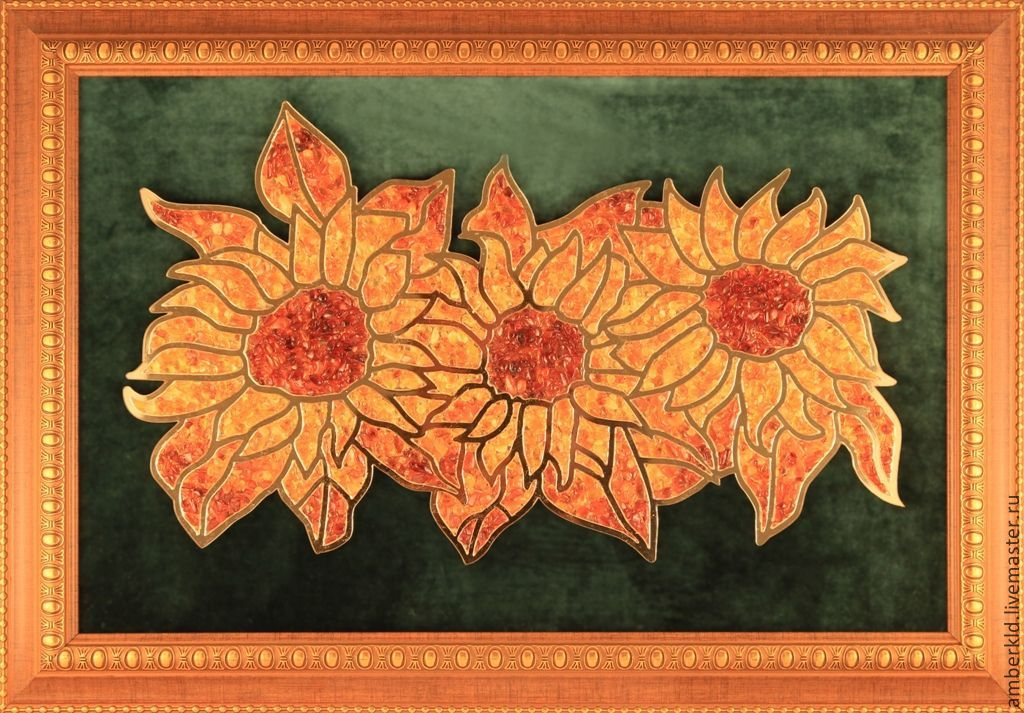 Amber Picture Sunflowers Shop Online On Livemaster With Shipping