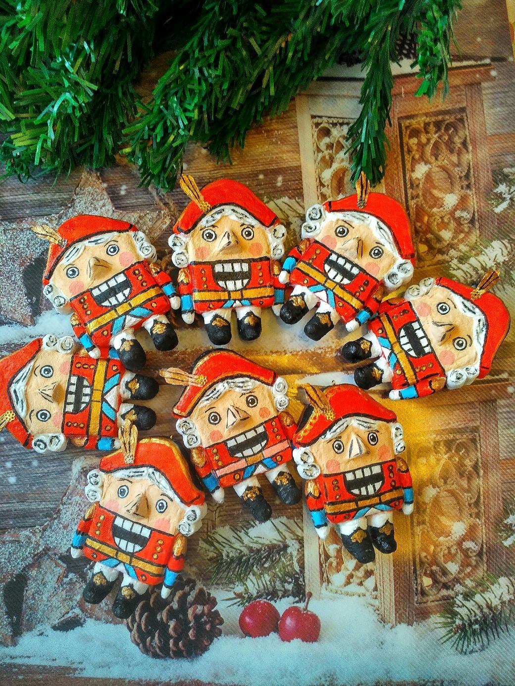 Cotton Christmas toy Nutcracker, Christmas decorations, Moscow,  Фото №1