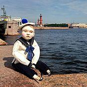 Куклы и игрушки ручной работы. Ярмарка Мастеров - ручная работа Куколка -болтушка Морячок-Том. Handmade.