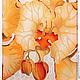 Картины цветов ручной работы. Диптих «Орхидея – царица цветочного мира». Батик.. Ирина Агафонова. Интернет-магазин Ярмарка Мастеров.