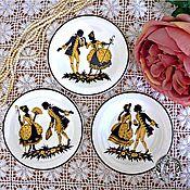 Винтаж ручной работы. Ярмарка Мастеров - ручная работа Очень редкие антикварные тарелочки из личной коллекции. Handmade.