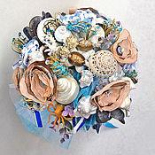 Свадебный салон ручной работы. Ярмарка Мастеров - ручная работа Букет Морской Коктейль. Handmade.