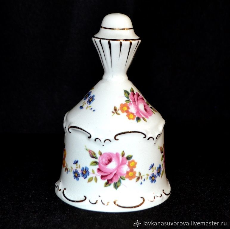 Bell ROSES porcelain, Vintage Souvenirs, Rostov-on-Don,  Фото №1