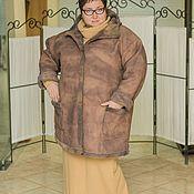 Одежда ручной работы. Ярмарка Мастеров - ручная работа Дублёнка большого размера. Handmade.
