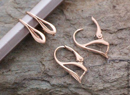 Для украшений ручной работы. Ярмарка Мастеров - ручная работа. Купить 566В Швензы из серебра 925 пробы с розовой позолотой. Handmade.