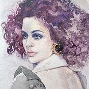 Картины и панно ручной работы. Ярмарка Мастеров - ручная работа Акварель мини; портрет пейзаж. Handmade.