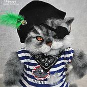 Куклы и игрушки ручной работы. Ярмарка Мастеров - ручная работа Кот пират. Handmade.