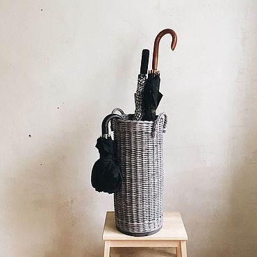 Для дома и интерьера ручной работы. Ярмарка Мастеров - ручная работа Корзина для хранения зонтов. Handmade.