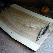 Подносы ручной работы. Ярмарка Мастеров - ручная работа Карагач. Большой чайный, сервировочный столик, поднос Лесной мед. Handmade.