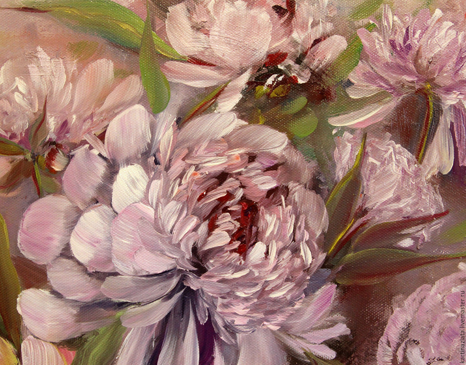 Pink peonies oil painting shop online on livemaster with shipping my livemaster flower paintings handmade pink peonies oil painting positive picture helena gold my livemaster mightylinksfo