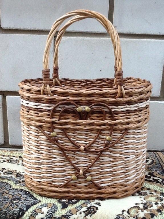 Плетение из газетных трубочек сумок мастер класс