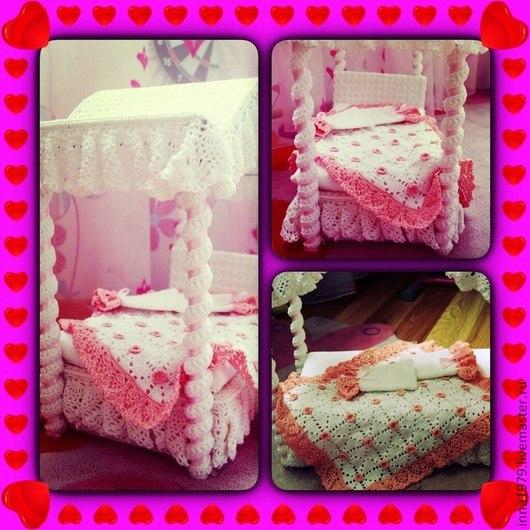 Кукольный дом ручной работы. Ярмарка Мастеров - ручная работа. Купить Кровать для кукол. Handmade. Разноцветный, кровать для куклы