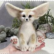 handmade. Livemaster - original item Felted interior toy Fox Fennec.. Handmade.