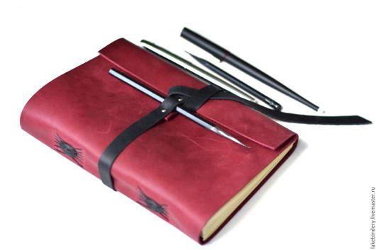 Блокноты ручной работы. Ярмарка Мастеров - ручная работа. Купить Блокнот кожаный  А5 / записная книжка из кожи Акварель. Handmade.
