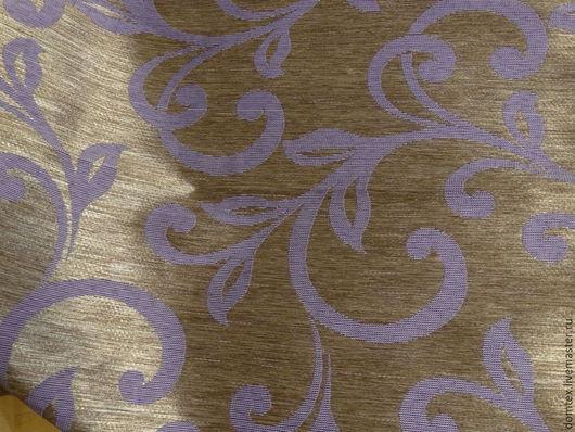 Шитье ручной работы. Ярмарка Мастеров - ручная работа. Купить Ткань портьерная Вензель Фиолет. Handmade. Фиолетовый, шторы в спальню