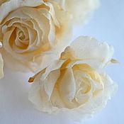Украшения ручной работы. Ярмарка Мастеров - ручная работа Мелкая роза для декора.Цветы из шелка. Handmade.
