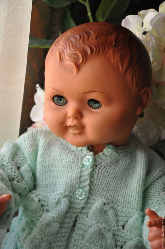 Винтажные куклы и игрушки. Ярмарка Мастеров - ручная работа. Купить Винтажный пупс. Handmade. Бежевый, кукла детства, ткань