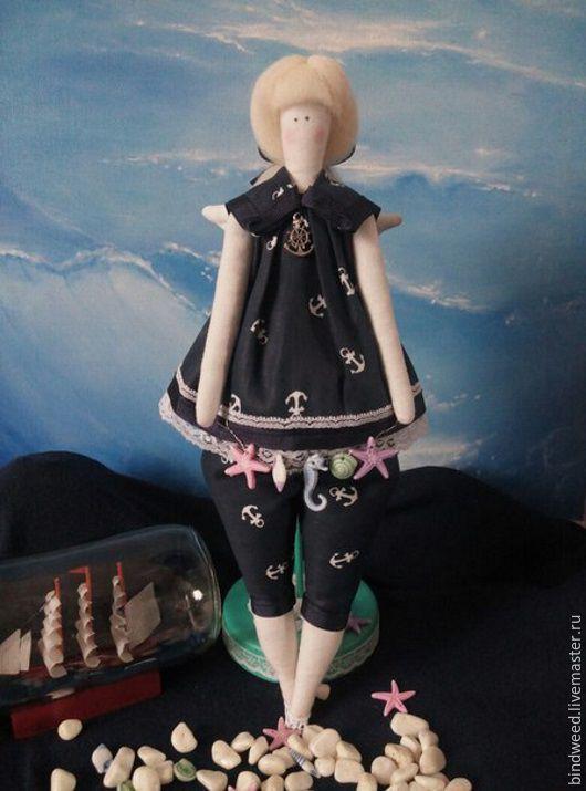 Куклы Тильды ручной работы. Ярмарка Мастеров - ручная работа. Купить Толстушка-морской ангел. Handmade. Тёмно-синий, тильда