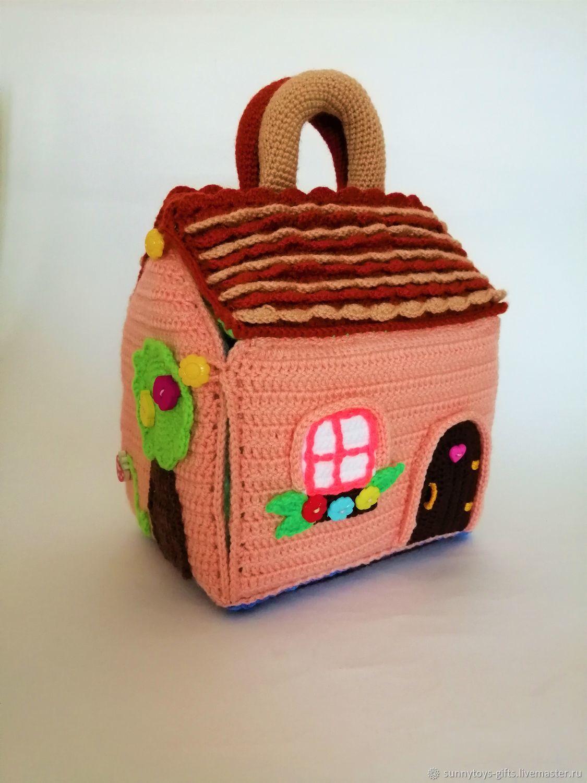 Вязаный домик-сумочка Для пальчикового театра, Кукольные домики, Березовский,  Фото №1