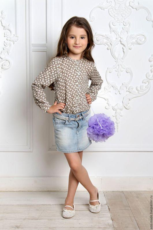 Одежда для девочек, ручной работы. Ярмарка Мастеров - ручная работа. Купить Блузка (Арт.:  Д-83). Handmade. Комбинированный