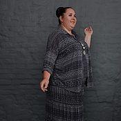 Одежда handmade. Livemaster - original item Skirt tiered gray knit DeVore. Handmade.
