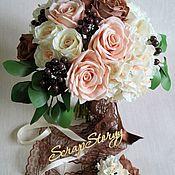 Свадебные букеты ручной работы. Ярмарка Мастеров - ручная работа Букет невесты розы. Handmade.