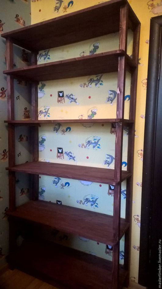 Мебель ручной работы. Ярмарка Мастеров - ручная работа. Купить Стеллаж. Handmade. Коричневый, Мебель, мебель из дерева, мебель для дачи