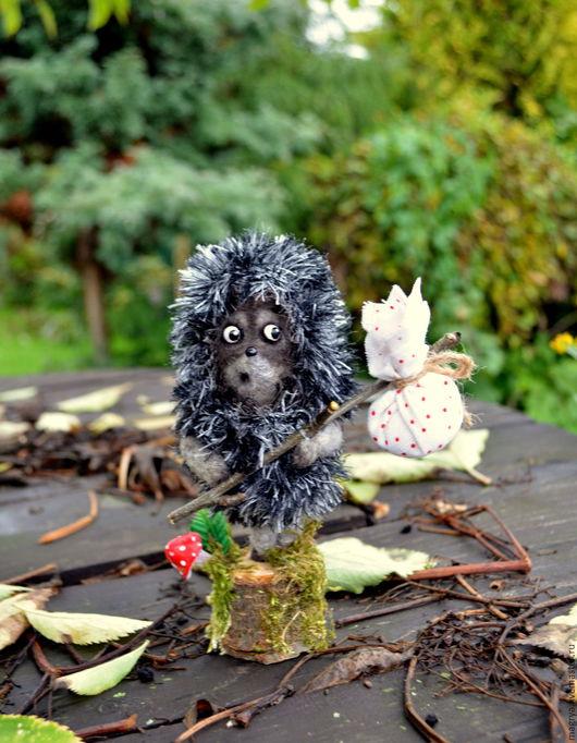 Куклы и игрушки ручной работы. Ярмарка Мастеров - ручная работа. Купить Игрушка войлок Ежик в Тумане. Handmade. Серый, лес