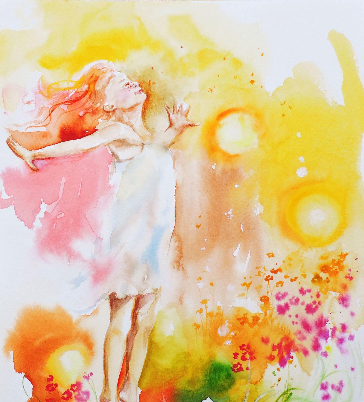 Картинки красками о лететь