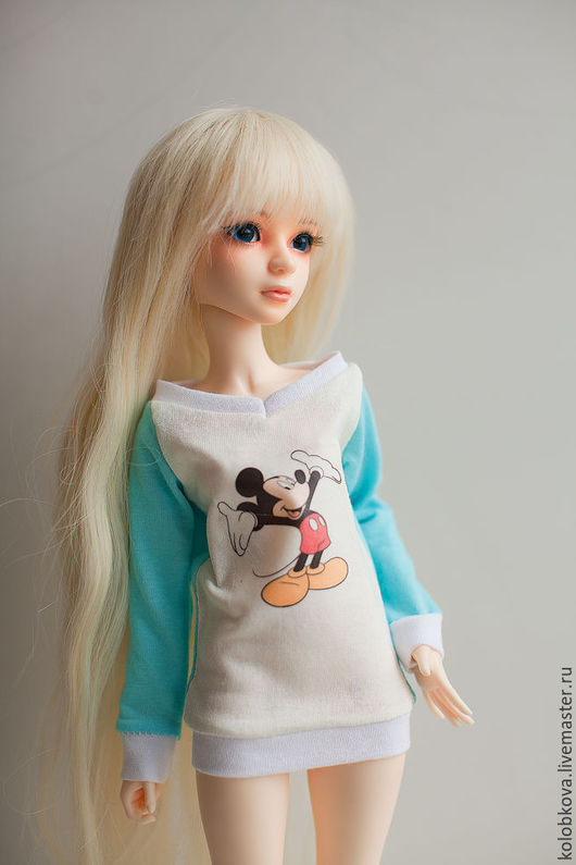Одежда для кукол ручной работы. Ярмарка Мастеров - ручная работа. Купить Одежда для бжд. Handmade. Бирюзовый, комбинезон, бархат