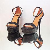 Обувь ручной работы handmade. Livemaster - original item Offspring Python leather sandals. Handmade.