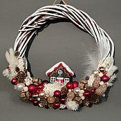 Цветы и флористика handmade. Livemaster - original item Interior wreaths: Christmas wreath Winter Wonderland. Handmade.
