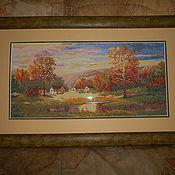 Картины и панно ручной работы. Ярмарка Мастеров - ручная работа Картины вышитые крестиком. Handmade.