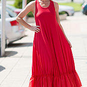 Одежда handmade. Livemaster - original item Dress with ruffles, Long dress, Dress, Knitted dress. Handmade.