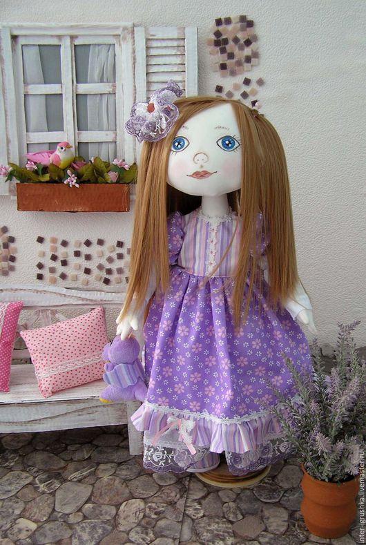 Коллекционные куклы ручной работы. Ярмарка Мастеров - ручная работа. Купить Кукла текстильная Варя. Handmade. Сиреневый, куколка, кружево