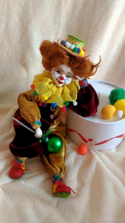 Кукла Рыжий Клоун, Куклы и пупсы, Ярославль,  Фото №1