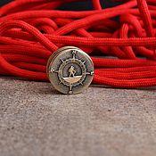 Материалы для творчества handmade. Livemaster - original item Bead lanyard compass ,bead for knife beads for knives. Handmade.