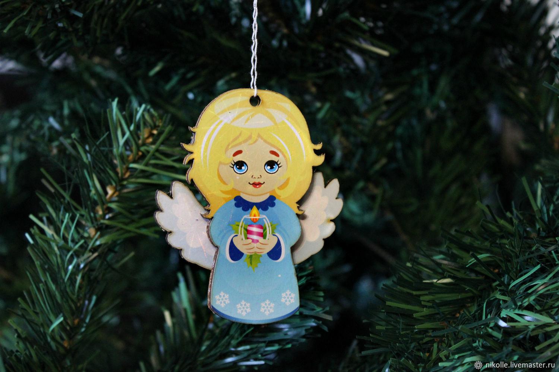 Новогодняя игрушка на елку. Ангел, Елочные игрушки, Шахты,  Фото №1